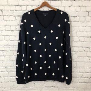 Tommy Hilfiger sweater polka dot size XL blue